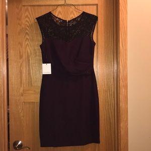 BRAND NEW Maroon Calvin Klein dress size 6